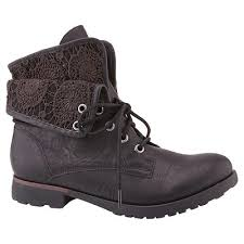 womens boots pretty thing s z bobo foldover ankle boots target