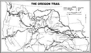 Map Of Oregon Trail by Nps Historical Handbook Scotts Bluff
