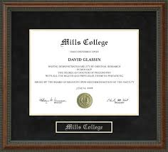 college diploma frames mills college diploma frame wordyisms