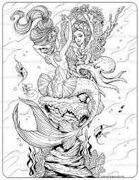 86 mermaids cp images coloring books