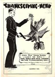 thanksgiving menu us navy 1943 ephemera photographs