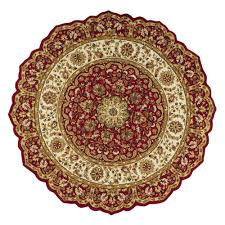 Home Decorators Carpet Home Decorators Collection Masterpiece Red 8 Ft Round Area Rug
