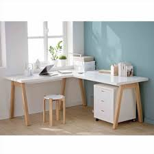 chambre bois blanc bureau bois blanc angle treteaux table plateau verre en o table