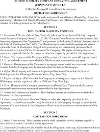 download limited liability company operating agreement for free