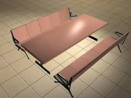 cafeteria benches cafeteria table with benches 3d model 3d studio 3ds max files free