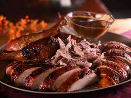 roast turkey with mustard maple glaze recipe bobby flay food