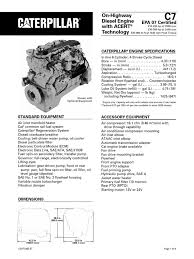 caterpillar c7 engine specs diesel engine horsepower