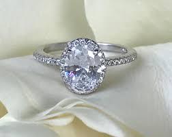 large diamond rings oval diamond ring etsy