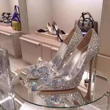 wedding shoes brisbane cinderella s glass slipper silver diamond wedding shoes