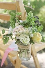 wedding flowers jam jars alternative stylish wedding chair ideas inspirations