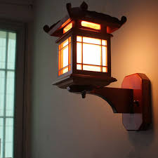 Wooden Wall Sconce Chinese Style Wooden Wall Lamp Bedside Wall Sconce Antique Wood