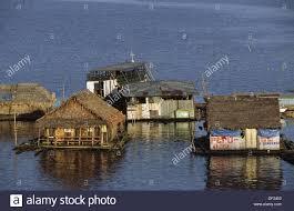 floating houses on the amazon iquitos loreto peru stock photo