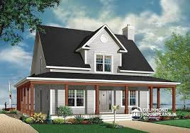 House Plan With Wrap Around Porch House Plan W3504 Detail From Drummondhouseplans Com Reverse