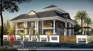 3d modern bungalow exterior day u0026 night rendering u0026 elevation