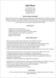 Detailed Resume Template Professional Farmer Templates To Showcase Your Talent