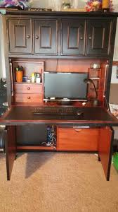 Solid Oak Desk With Hutch by Alderson Solid Oak Computer Cabinet In Westlake Letgo