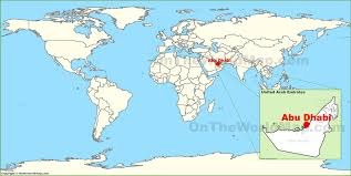 The World Map Labeled by Abu Dhabi On The World Map Pleasing Abu Dhabi World Map