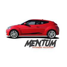 hyundai car models hyundai veloster mentum vinyl graphic stripes decal kit for 2011