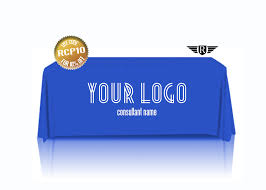 Logo Table Cloth by Consultant Custom Printed Blue Tablecloth Branded Tablecloth