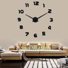 home decor items for sale large wall clock 3d sticker big home decor unique gift diy