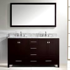 Home Depot White Bathroom Vanity by Bathroom Virtu Caroline Avenue 60 Double Bathroom Vanity Set
