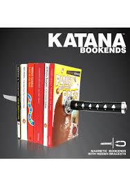 unique bookends for sale samurai sword magnetic bookends