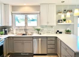 white kitchen base cabinets moline gray and white kitchen home stores