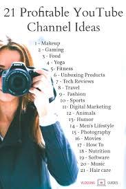 21 profitable channel ideas best niches 2018 vlogging