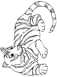 coloring page tiger paw coloring pages of tigers tiger without stripes coloring page tigers