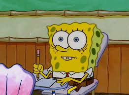 18 stages of studying for comps as told by spongebob her campus