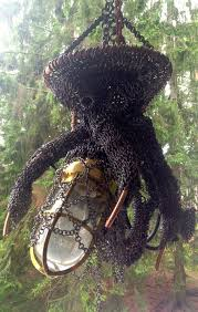 octopus lamp chainmail sculpture theringlord forum