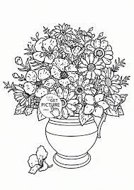 Pencil Sketch Of Flower Vase Flower Vase Cartoon Drawing For Kids Great Drawing