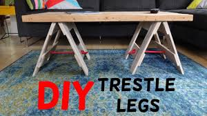 making a trestle table simple industrial trestle leg table build youtube