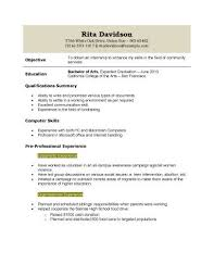 Sample College Student Resume No Work Experience Resume Examples For Highschool Students With No Work Experience