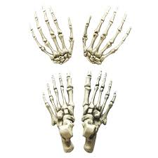 aliexpress com buy life size plastic skeleton hands and feet for