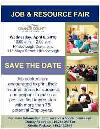 How To Prepare A Resume For A Job Fair by Welcome To Orange County Nc