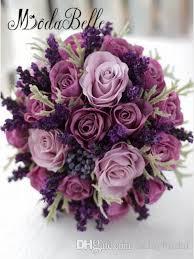 purple roses for sale bridesmaids wedding bouquet purple lavender berry