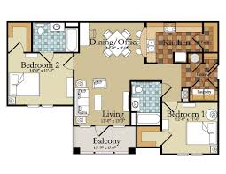 Two Bedroom Apartments Floor Plans 54 Room Design Plan Visualize And Plan Your Home Office Design