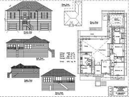 Floor Plan Elevations by Ingenious Idea House Plans With Floor Plan And Elevations 10