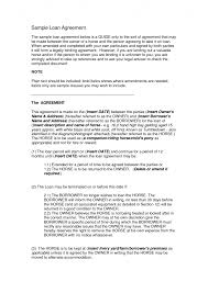 sample business loan agreement free form template company profile