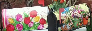 magnetic mailbox covers with flowers