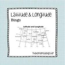 longitude and latitude bingo activities pinterest bingo