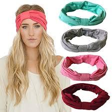 headband elastic dreshow 4 pack headbands vintage elastic printed wrap