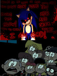 Sonic Exe Know Your Meme - loud siblings scared sonic exe by cg1995 on deviantart