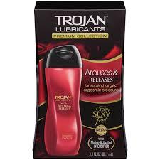 amazon com trojan riviera lubricant 3 oz health personal care trojan lubricants arouses and releases 3 oz