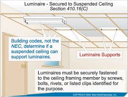 Drop Ceiling Track Lighting Luminaire Secured To Suspended Ceiling Electrical Construction