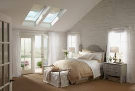 White Bedroom Blinds Bedroom Interesting Bedroom Design With Velux Skylights And Roman