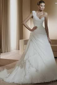 one shoulder wedding dresses buy cheap one shoulder asymmetrical chiffon ruffles modest