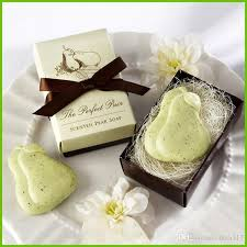 bridal shower favor new creative personality pear soap handmade soap for wedding
