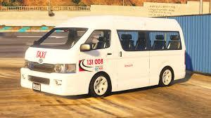 toyota hiace modified toyota hiace maxi taxi aus gta5 mods com
